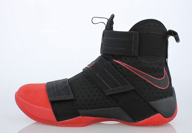 official photos 0b01f a35a1 Ohio State Nike LeBron Soldier 10 Bred Black Red