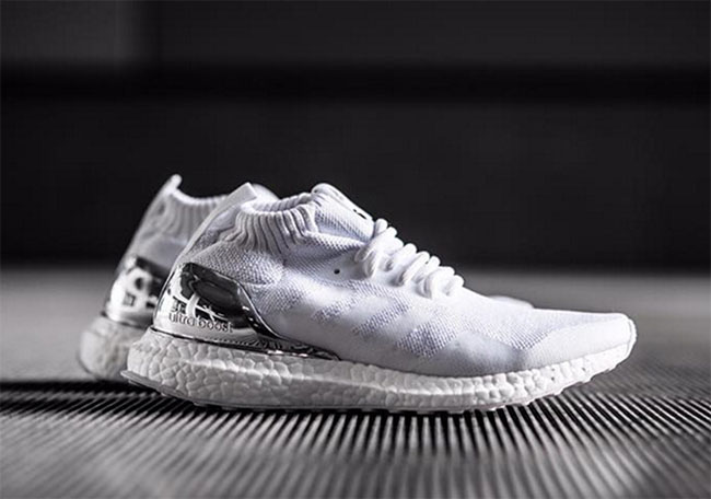 arrives buying cheap cheap price Ronnie Fieg adidas Ultra Boost Mid White Silver | SneakerFiles