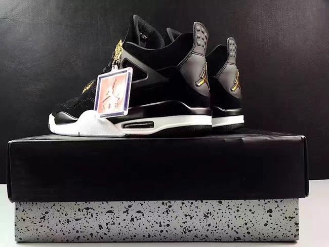 Royalty Air Jordan 4 Black Gold