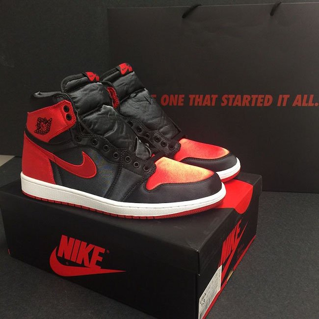 Satin Air Jordan 1 Banned Bred 917359 001 Sneakerfiles