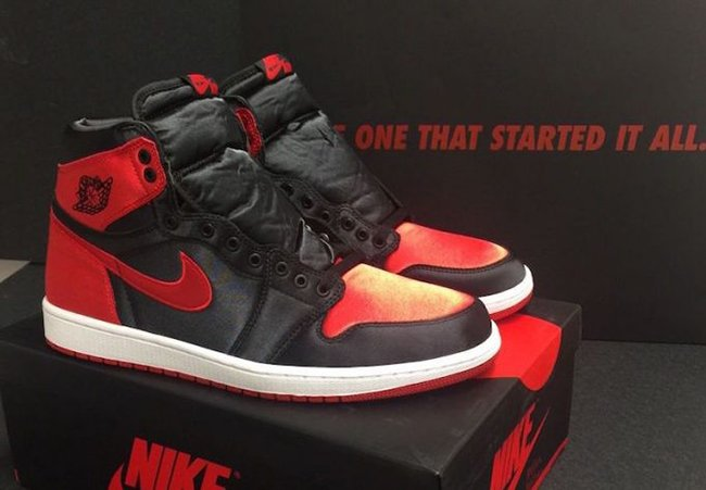 Satin Air Jordan 1 Banned Bred 917359-001  00755d192