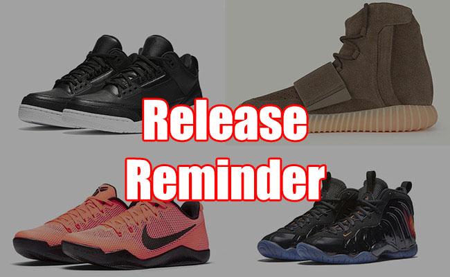 Sneakers Release October 13 15 2016