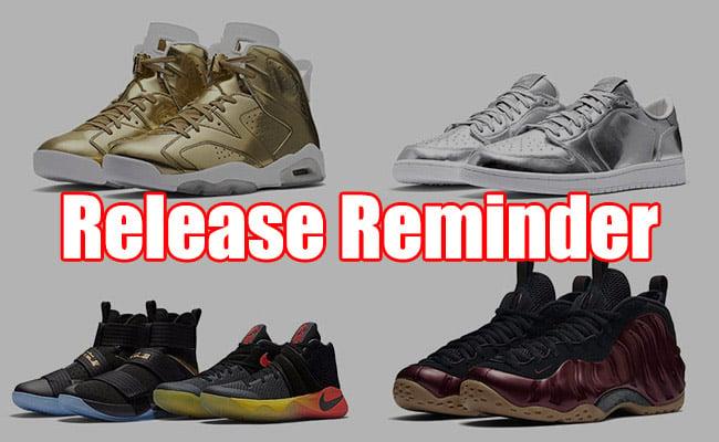 Sneakers Release October 20 22 2016