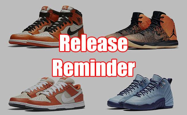 Sneaker release reminder for Schuhschrank jordan design