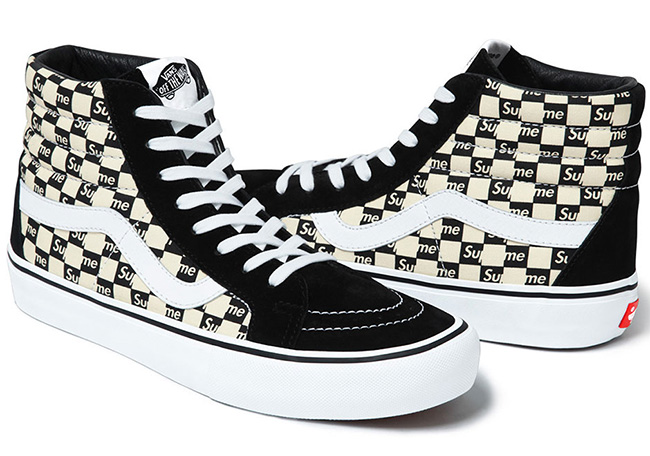 Supreme x Vans Checkerboard SK8-Hi Authentic