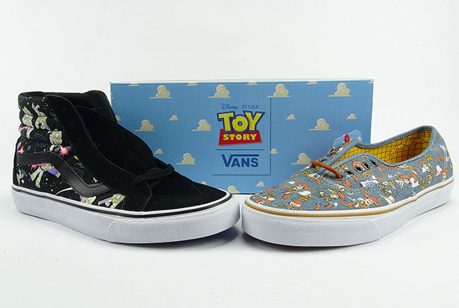 30cfa6ed50 Toy Story Vans Collection SK8-Hi Authentic Buzz Lightyear Woody Review