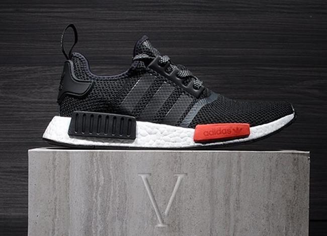 adidas nmd r1 foot locker black red sneakerfiles