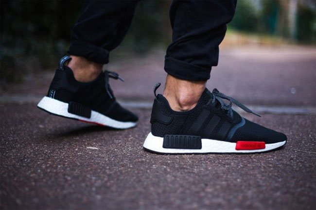 e75f6f2ee7104 adidas NMD R1 Foot Locker Black Red