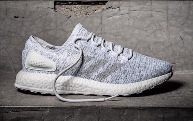 uk availability 3d3b0 e65be adidas Pure Boost Primeknit Grey White