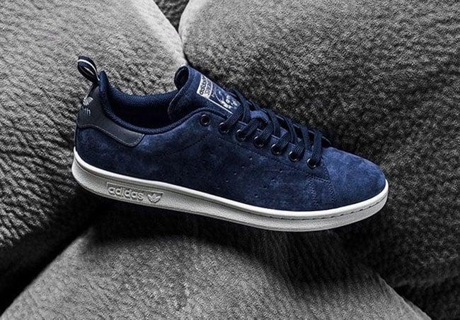 adidas stan smith collegiate navy suede sneakerfiles. Black Bedroom Furniture Sets. Home Design Ideas
