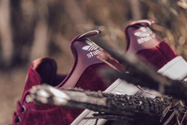 adidas Stan Smith Maroon Suede