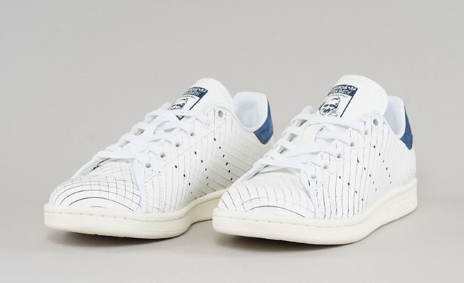 adidas Stan Smith Sliced Leather White Navy