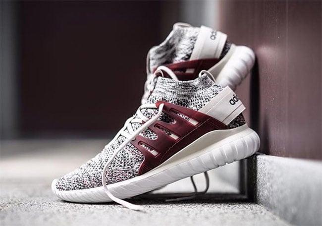 best authentic 08634 e98eb adidas Tubular Nova Primeknit Maroon | SneakerFiles