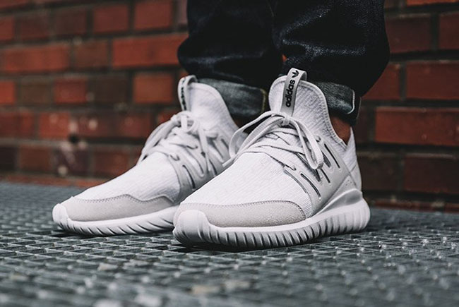 adidas tubular radial white shoes