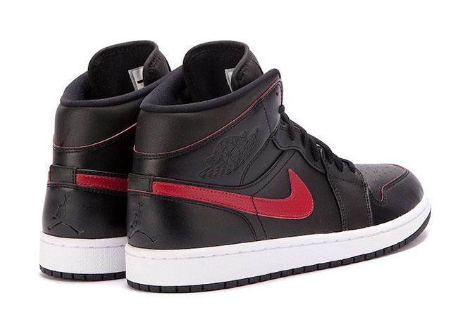 Air Jordan 1 Mid Team Red Black 554724