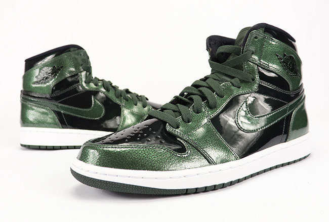 c45ddb281a07 Air Jordan 1 Retro High Grove Green Patent Leather Review On Feet