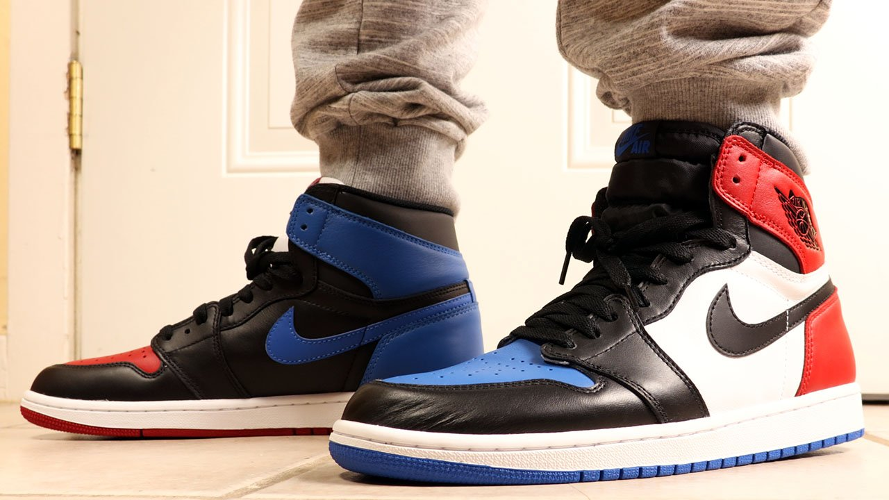 size 40 9648a 6c1d4 Air Jordan 1 High Top 3 Release Chicago Royal Banned ...