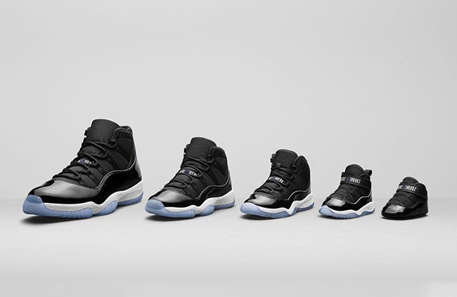 promo code 49842 5d014 Air Jordan 11 Space Jam Family Sizes Prices