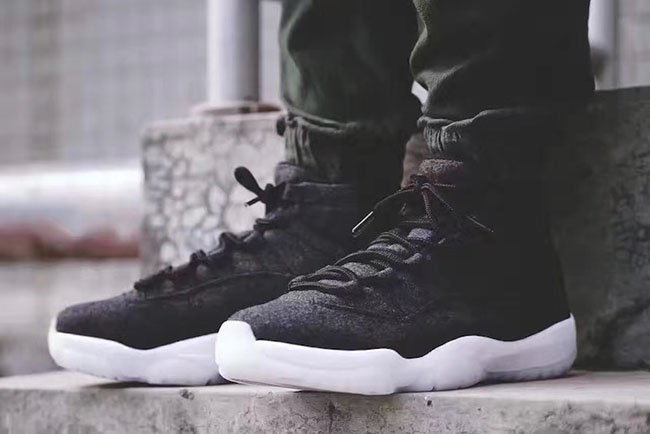 Air Jordan 11 Wool Grey Black Release Date Sneakerfiles