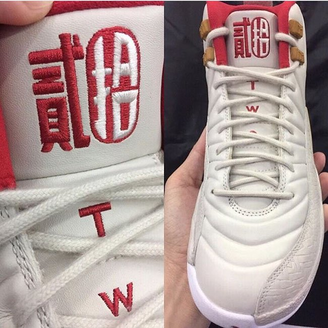 air jordan 12 cny gs kids chinese new year white red 3ba6783fa