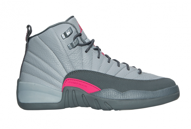 Air Jordan 12 GS Grey Pink November 2016