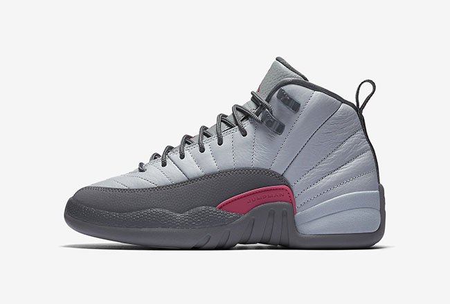 Air Jordan 12 GS Vivid Pink Cool Grey Wolf Grey