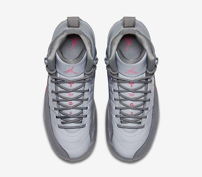 546ee391536e Air Jordan 12 GS Vivid Pink Cool Grey Wolf Grey