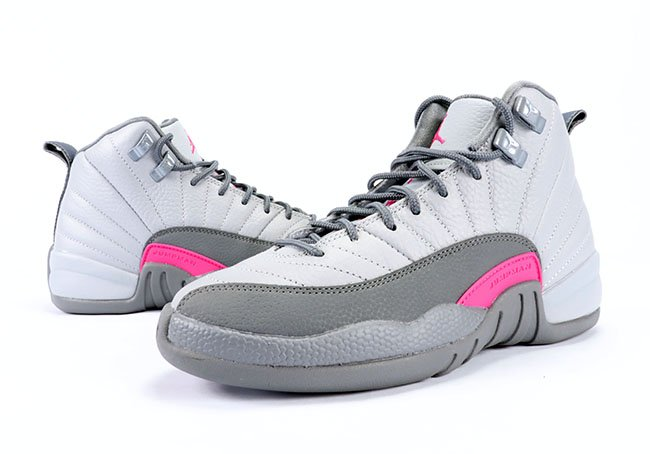 Air Jordan 12 GS Vivid Pink Grey Review On Feet