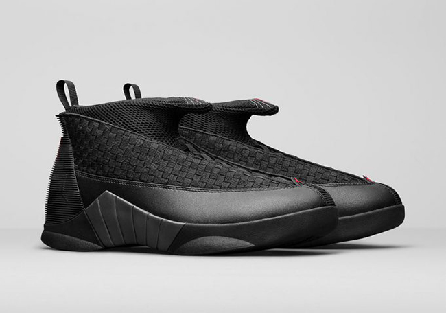 Air Jordan 15 Stealth Black Varsity Red 2017  90684ed0c331