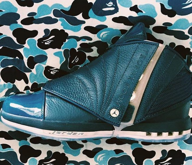 Air Jordan 16 French Blue Trophy Room November 2016