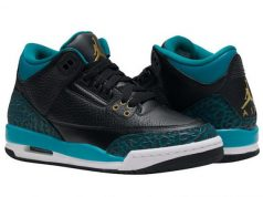 Air Jordan 3 GS Rio Teal Black Metallic Gold
