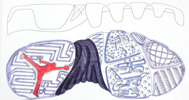 Air Jordan 9 Outsole Design