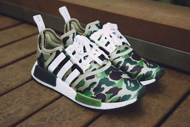 693f9ddc0 Bape x adidas NMD Olive Camo Release Date