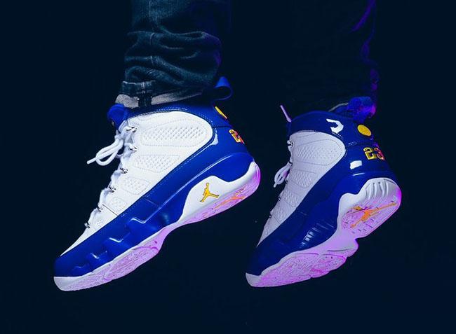 Kobe Air Jordan 9 Purple Yellow