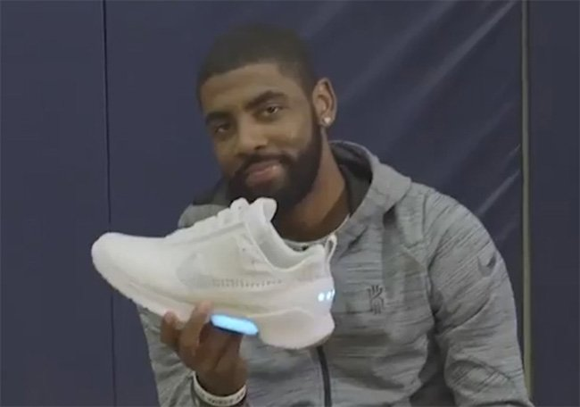 Kyrie Irving Tests Nike HyperAdapt 1.0