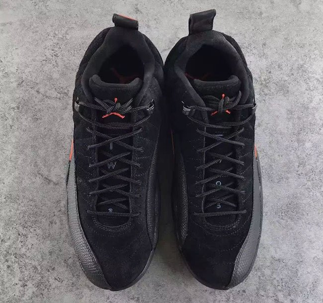 Max Orange Air Jordan 12 Low Black