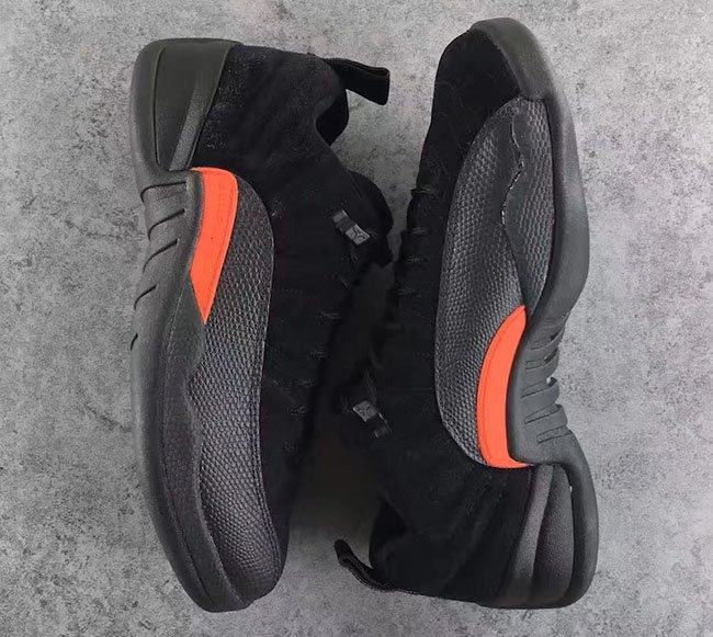 info for eaa2c 1a268 Max Orange Air Jordan 12 Low Black