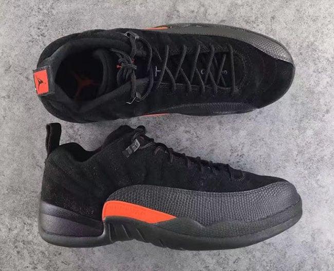 Max Orange Air Jordan 12 Low Black
