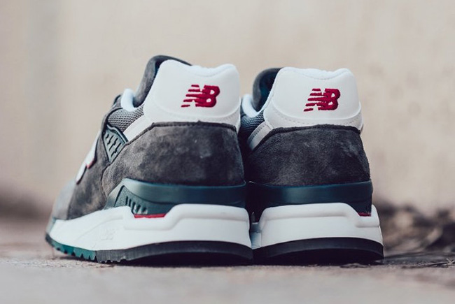 New Balance 998 Made in USA Grey White Red