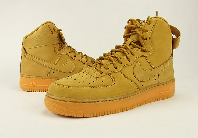 new style 54012 3acb7 Nike Air Force 1 High Wheat Flax Review On Feet 2016