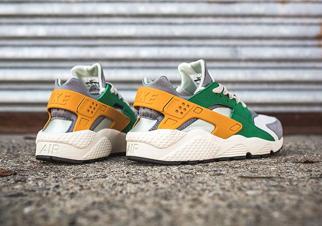 Nike Air Huarache Pine Green Gold Leaf