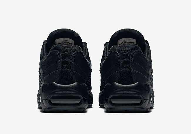 Nike Air Max 95 Premium Triple Black Pony Hair