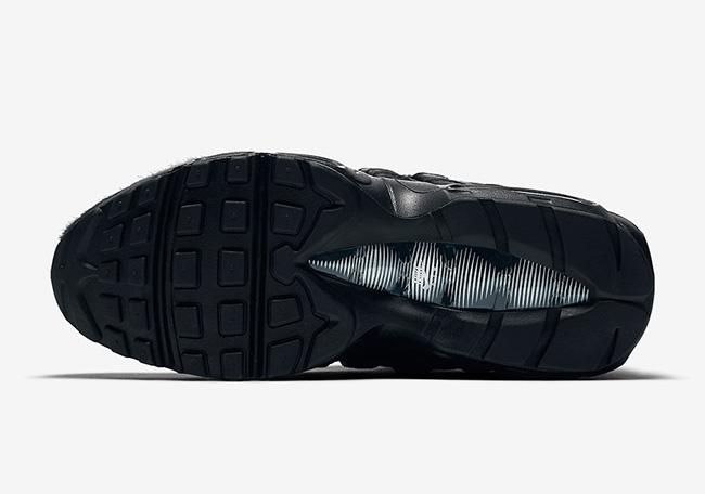 Nike Air Max 95 Premium Triple Black Pony Hair