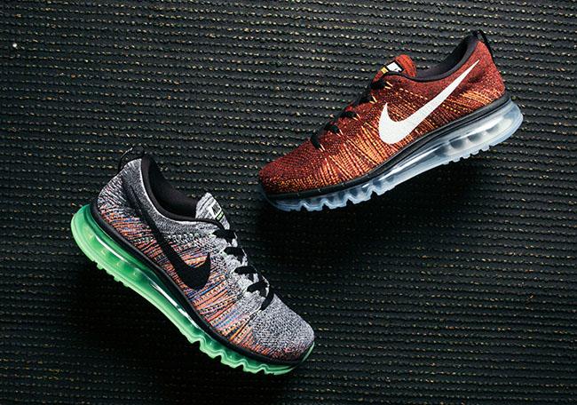 Nike Flyknit Air Max Grey Multicolor