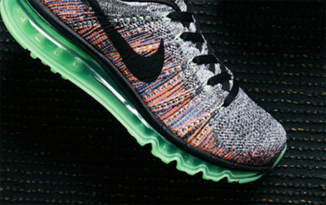 best loved 31885 294b6 Nike Flyknit Air Max Grey Multicolor