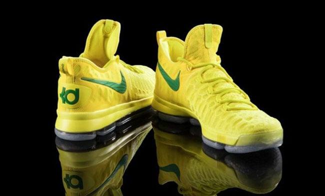 Nike KD 9 Oregon Ducks Yellow PE