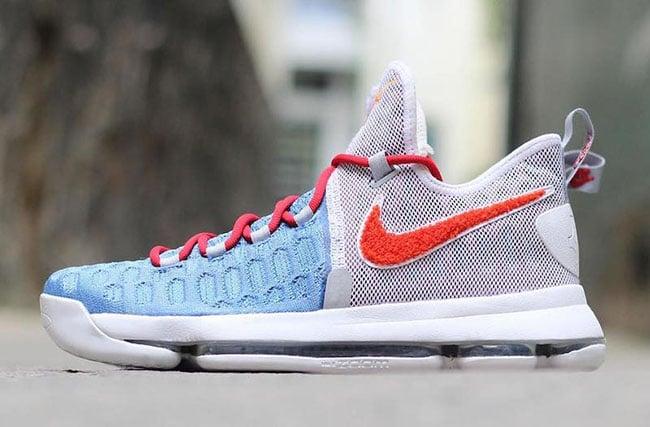 Nike KD 9 Texas Longhorns Chenille PE