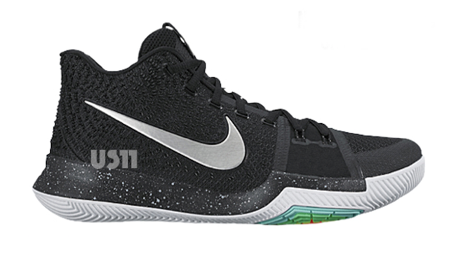 Nike Kyrie 3 Black White Christmas Eve