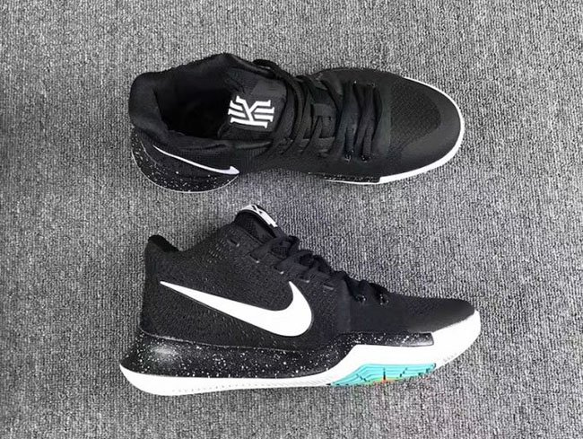 brand new cee8a c14e0 Nike Kyrie 3 Black White Christmas Eve | SneakerFiles