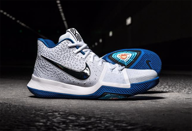 quality design df69e 423b4 Nike Kyrie 3 White Blue Black